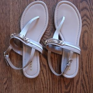 Coach Caterine Petal Pink Thong Sandals 8.5 NWOT